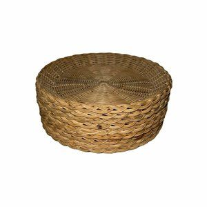 9 Vintage Wicker Ratan Bamboo Paper Plate Holder